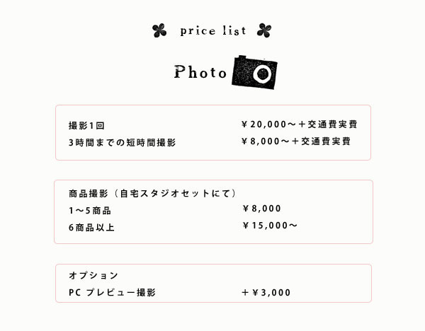 pricelist photo